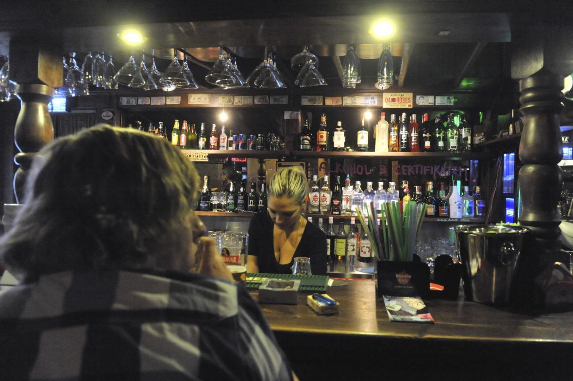 Bar ve Stodolní ulici v Ostravě