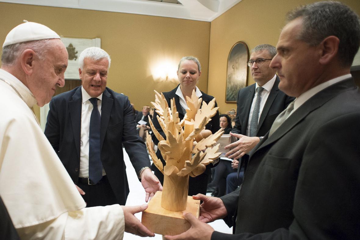 František ve Vatikánu přijal evropské ministry životního prostředí