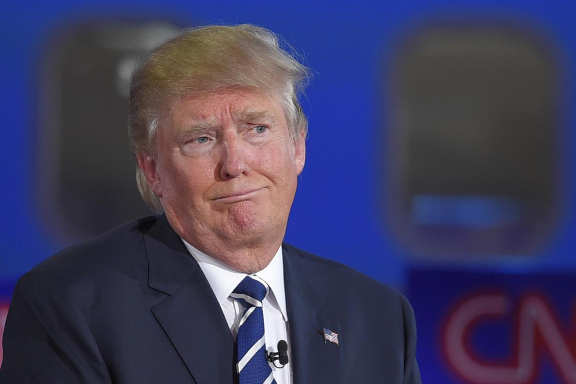 Donald Trump během republikánské debaty na CNN