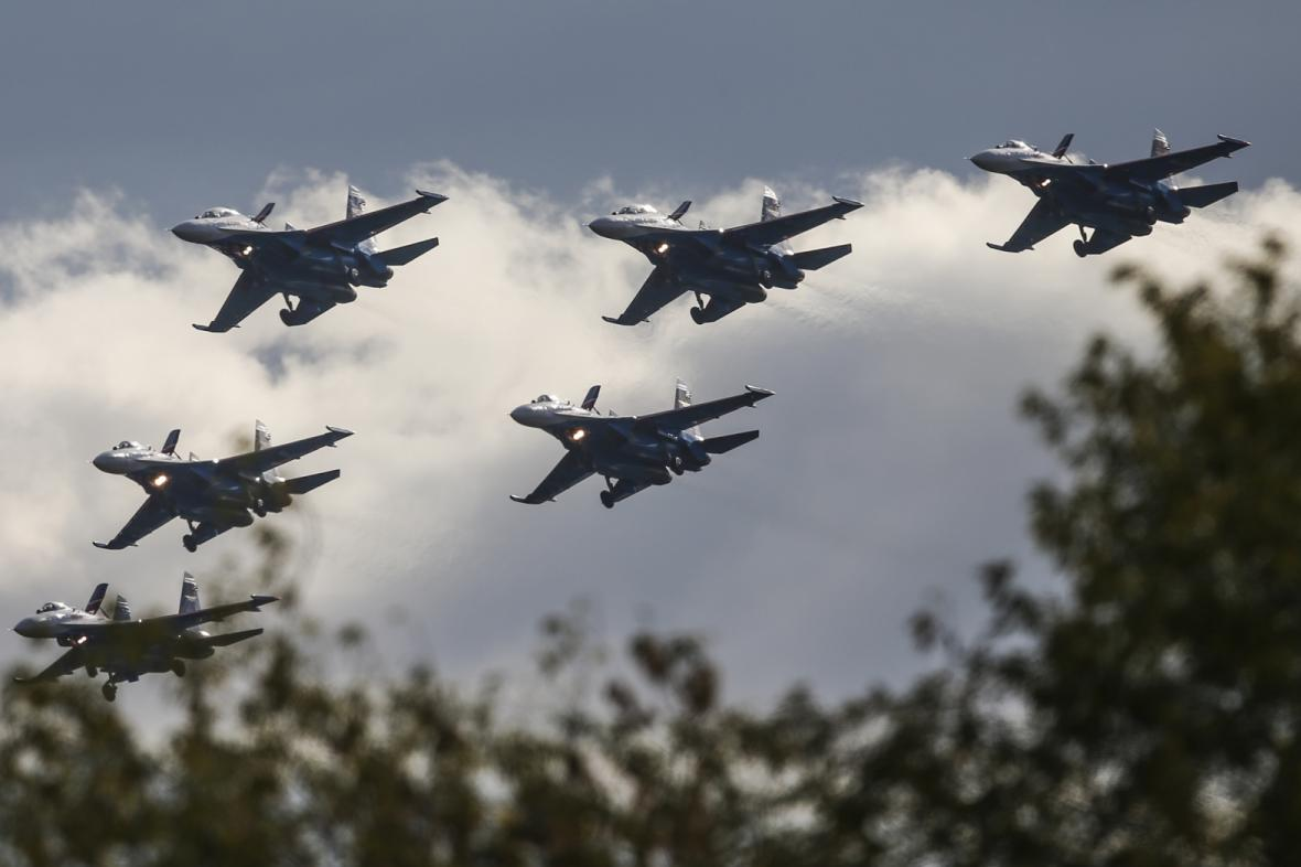 Ruské stíhačky Su-27