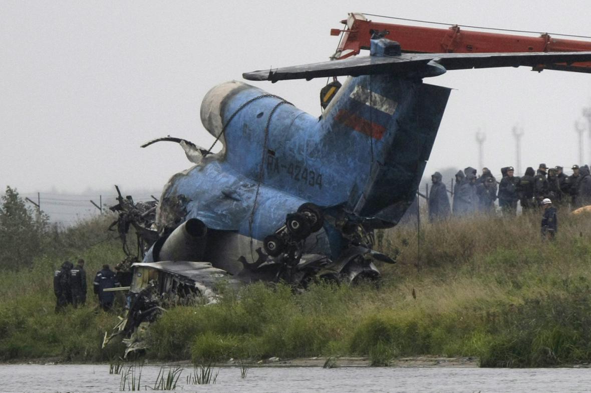 Při havárii letadla s týmem Jaroslavle zemřelo 44 lidí