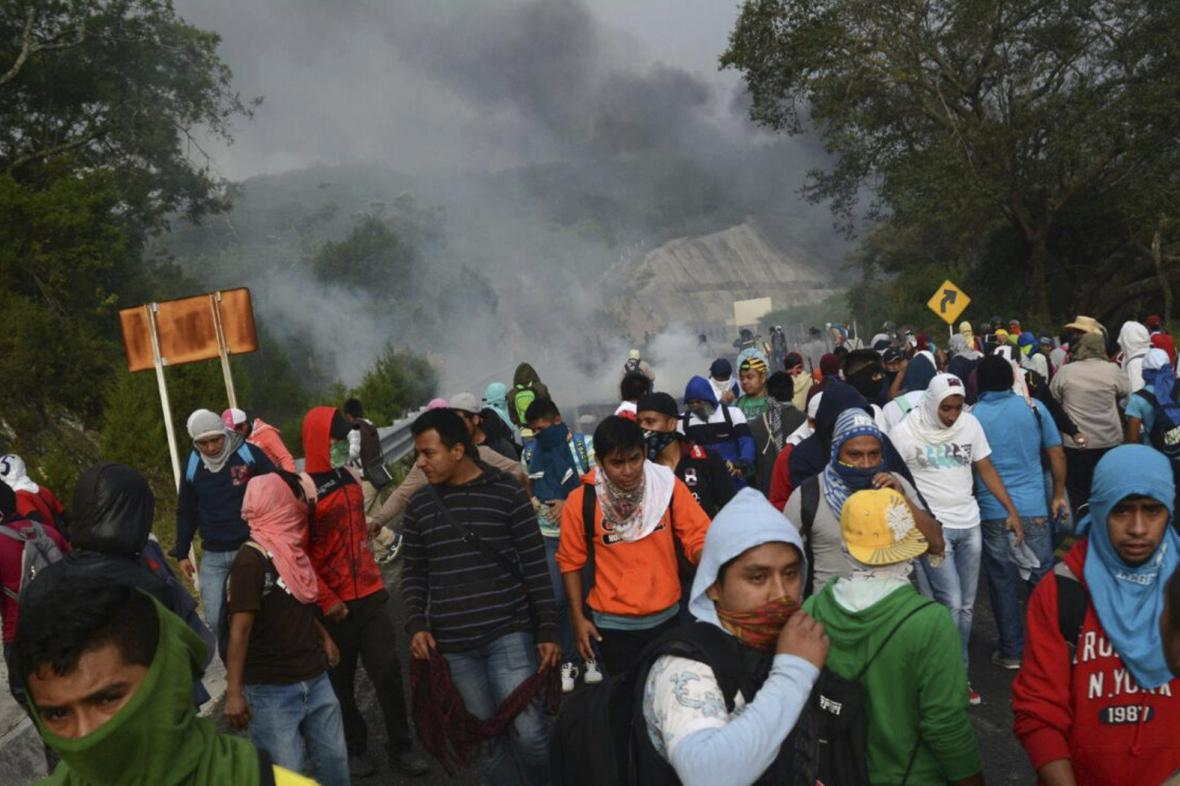 Protest mexických studentů