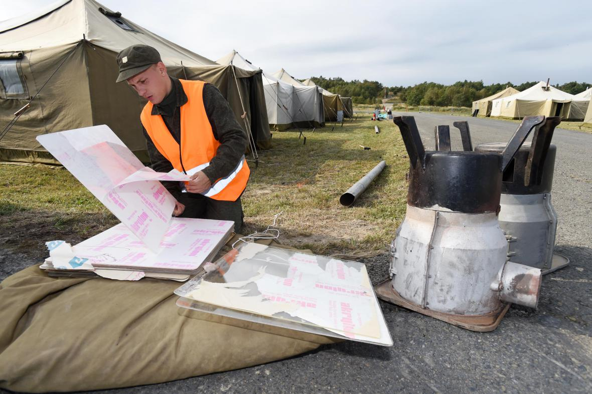 Vojáci cvičně postavili v Libavé humanitární tábor