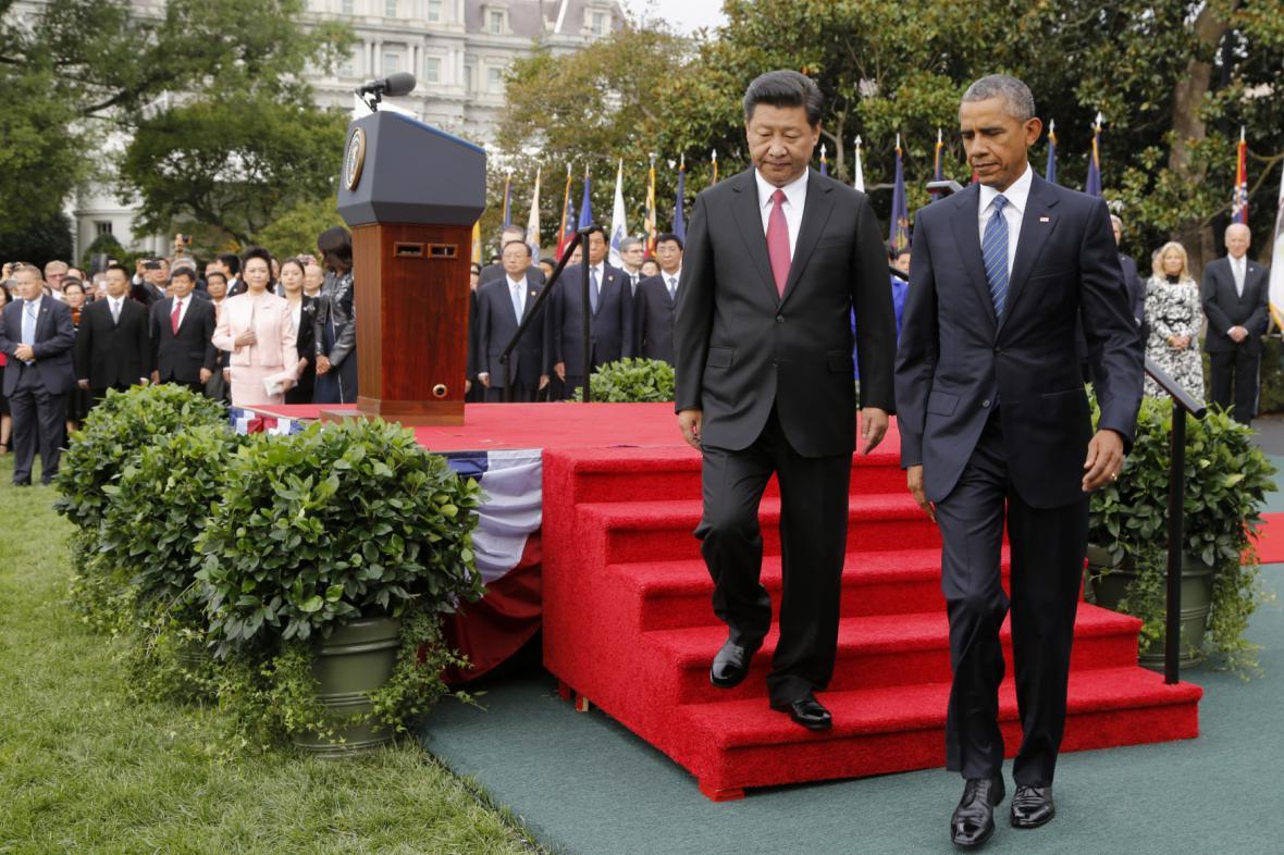 Setkání státníků na zahradě Bílého domu