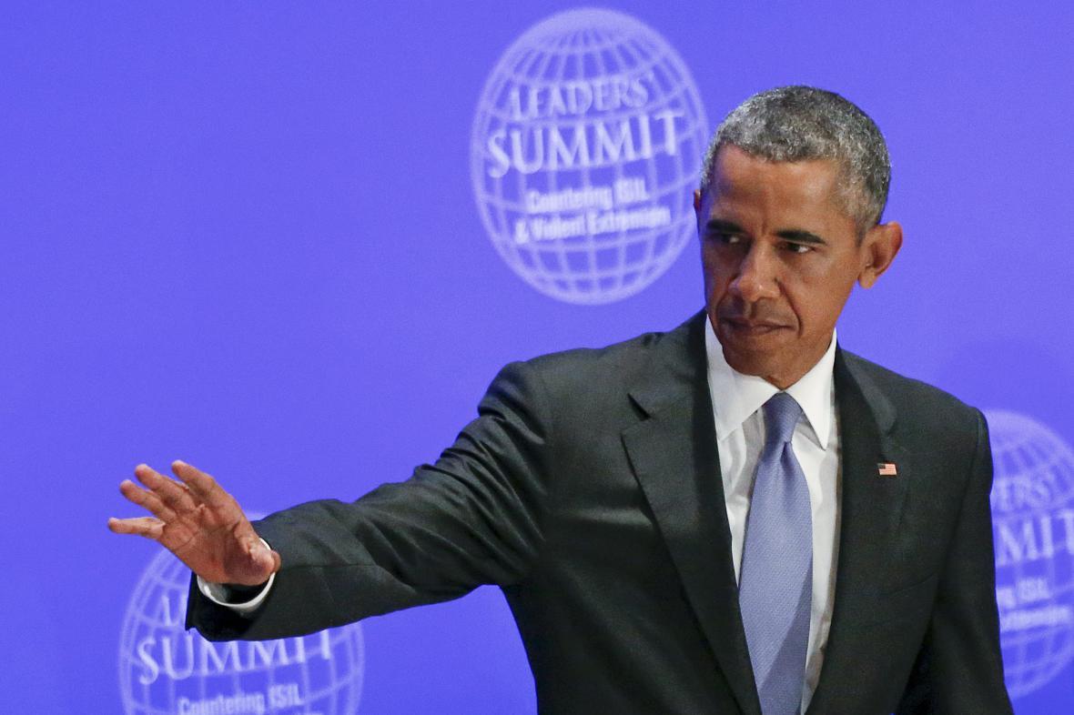 Americký prezident Barack Obama na summitu proti Islámskému státu