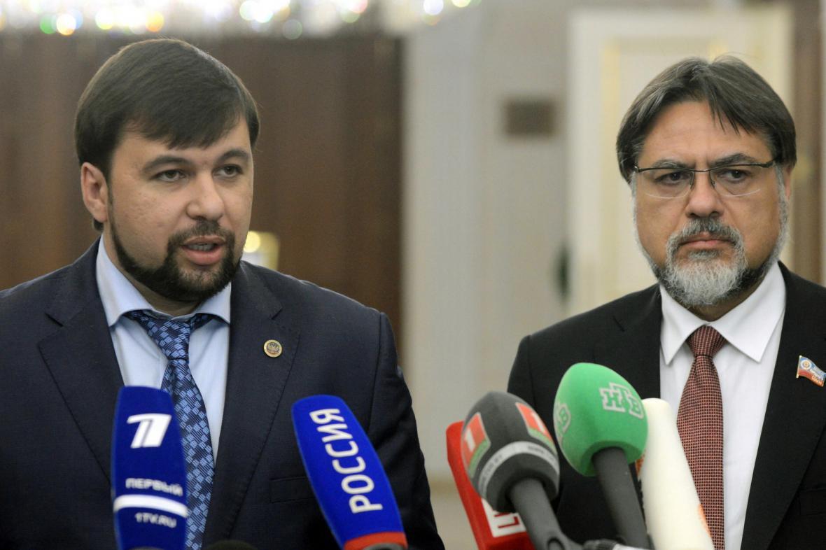 Zástupce rebelů Denis Pušilin po jednání kontaktní skupiny
