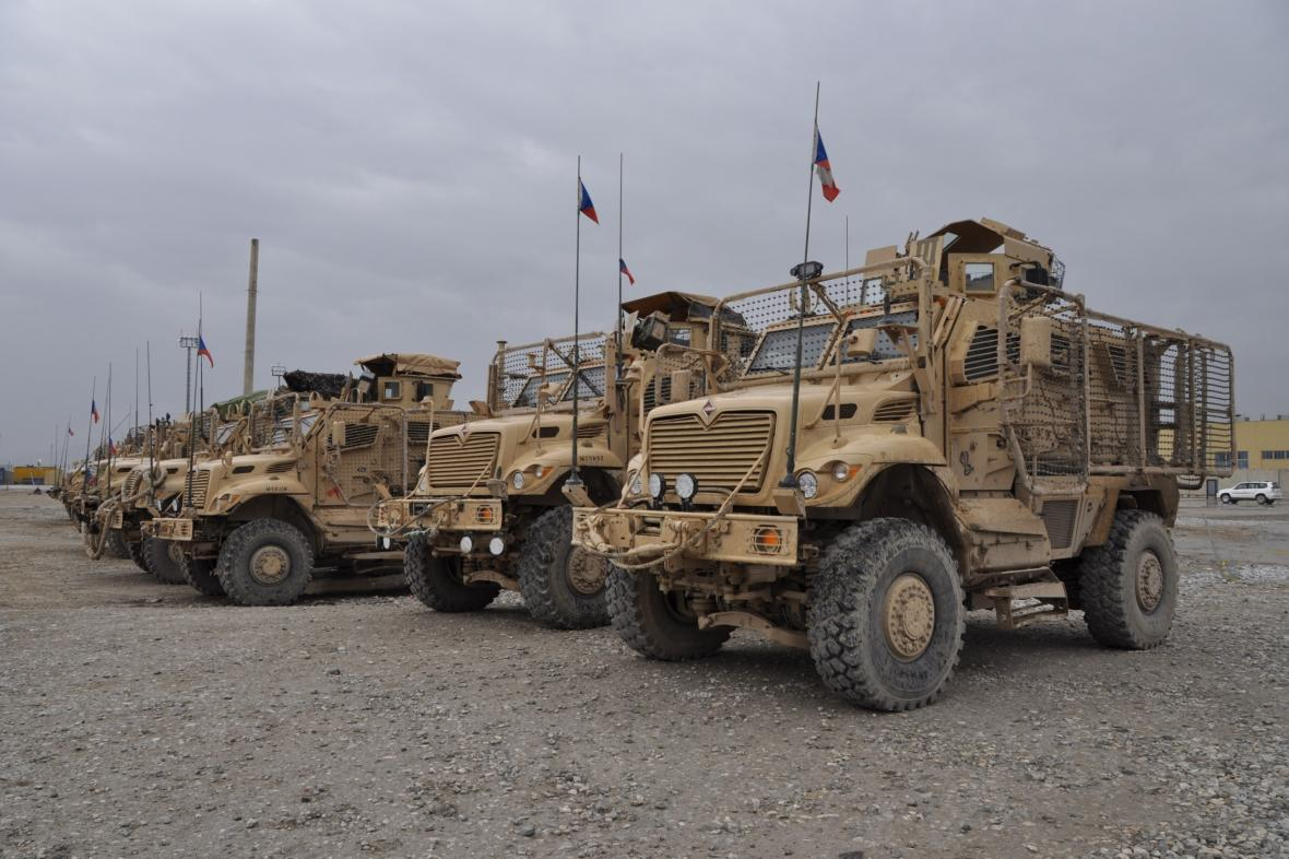 Česká armáda na základně Bagrám