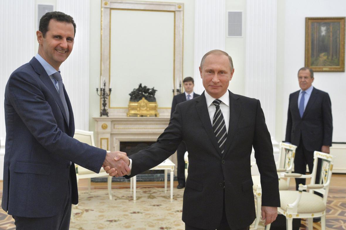 Bašár Asad a Vadimir Putin v Moskvě