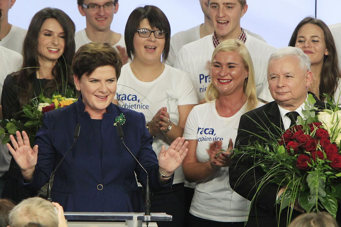 Polští konzervativci slaví