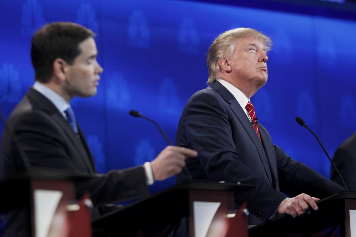 Marco Rubio a Donald Trump
