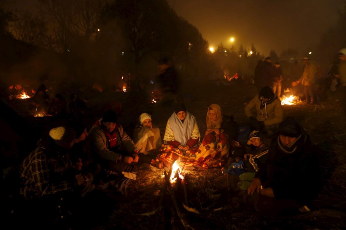 Uprchlíci u rakouských hranic