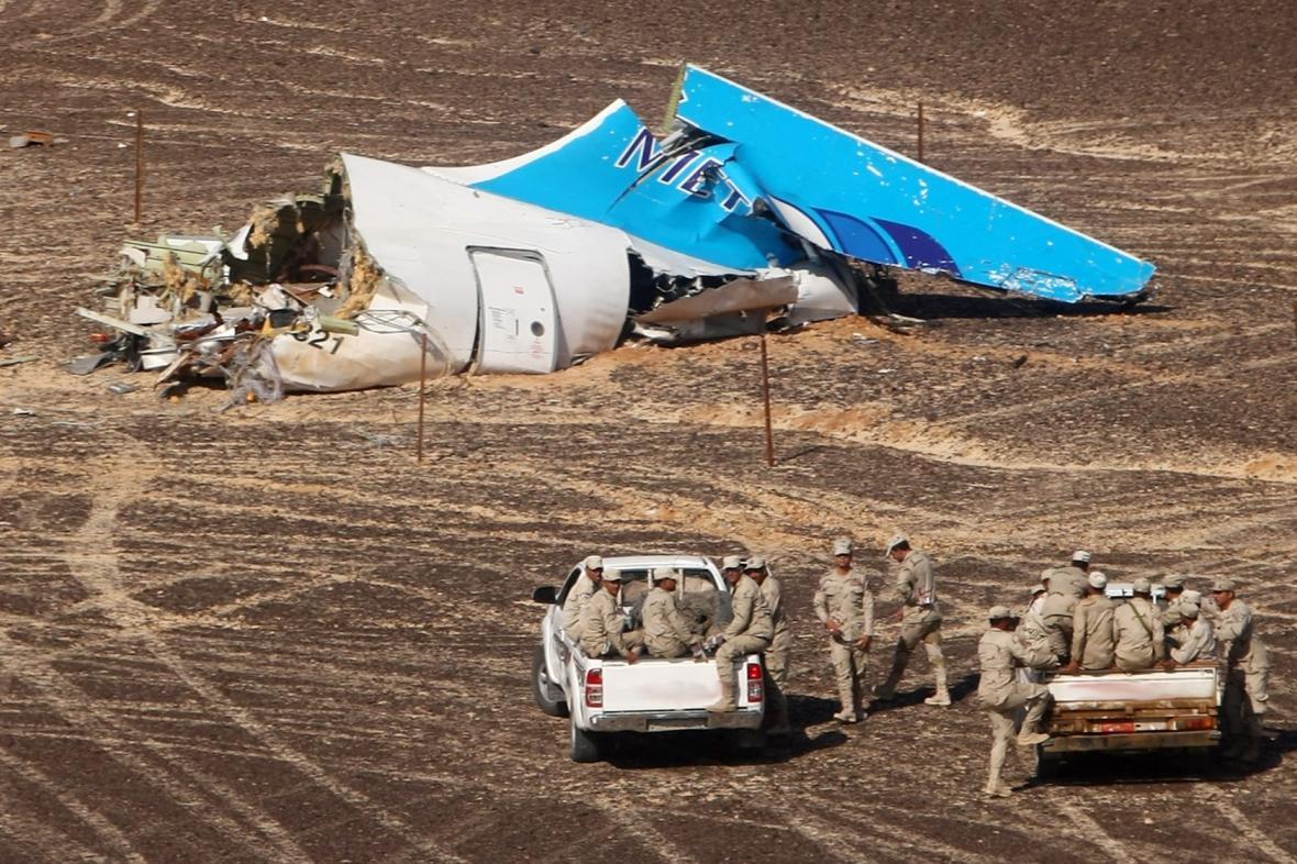 Místo nehody ruského letadla