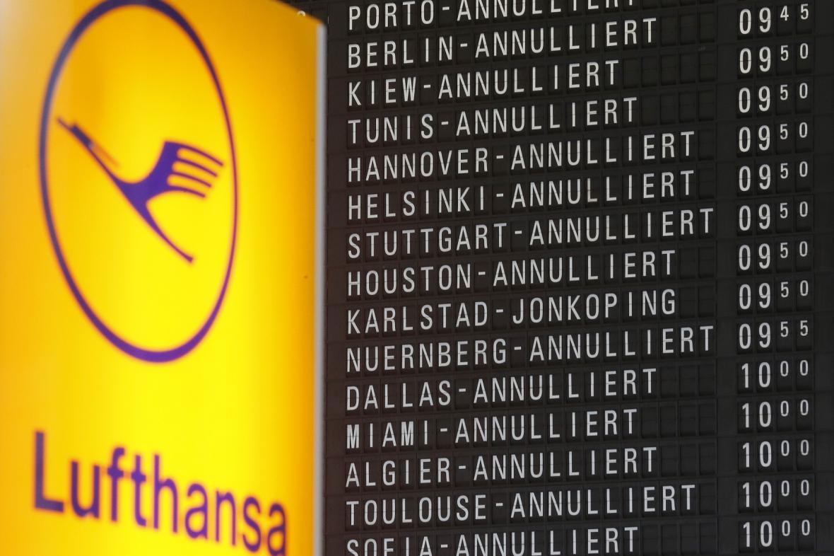 Stávka ruší lety Lufthansy
