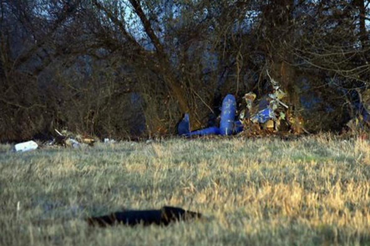 Trosky vrtulníku nalezené na Slovensku