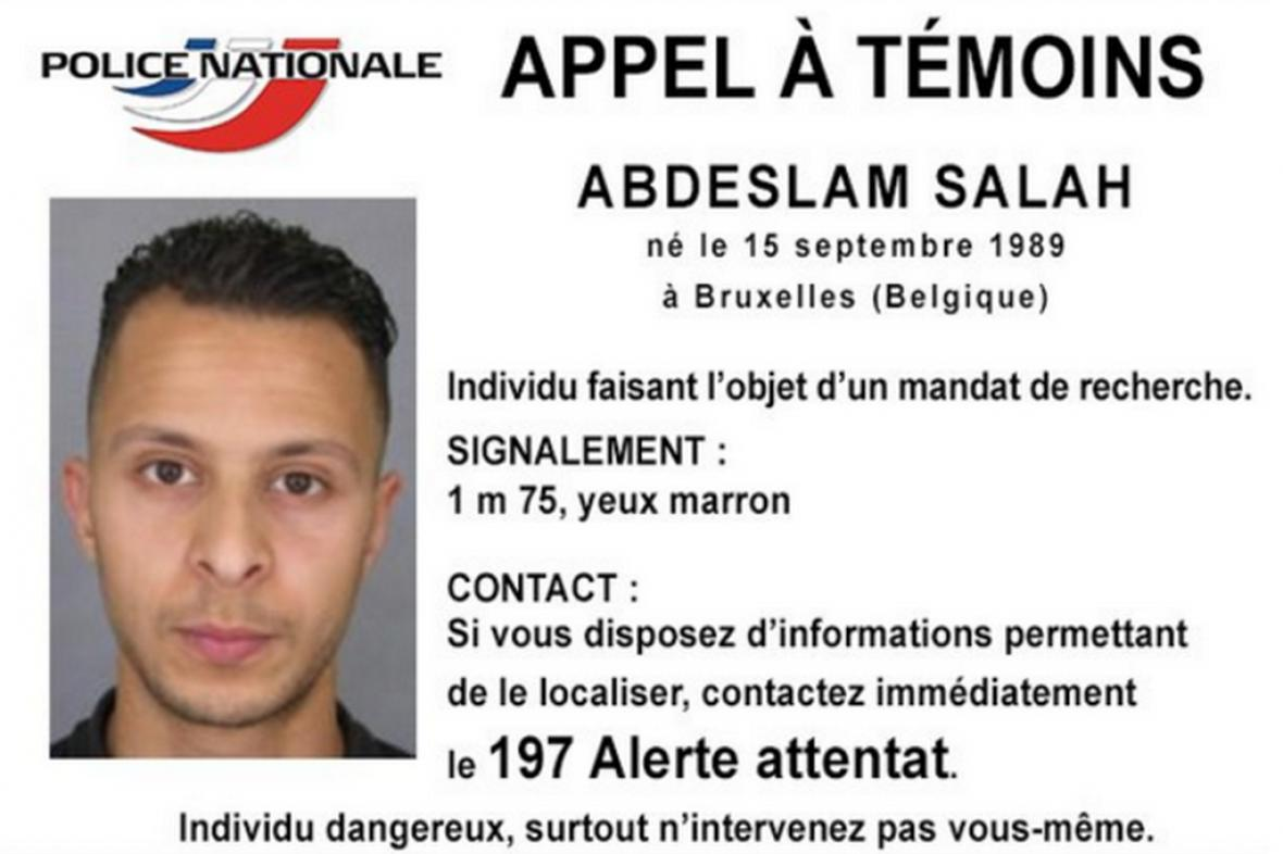 Muž hledaný francouzskou policií kvůli útokům v Paříži