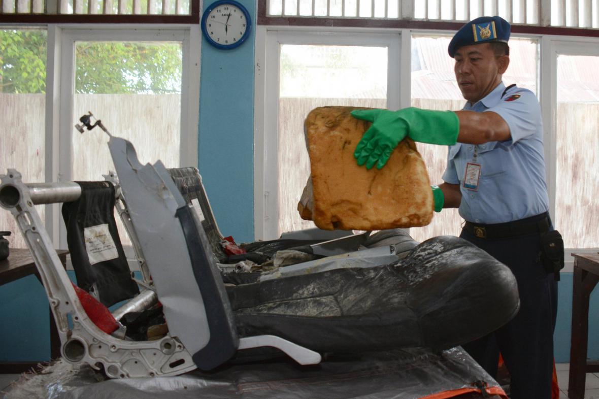 Nalezené pozůstatky letadla