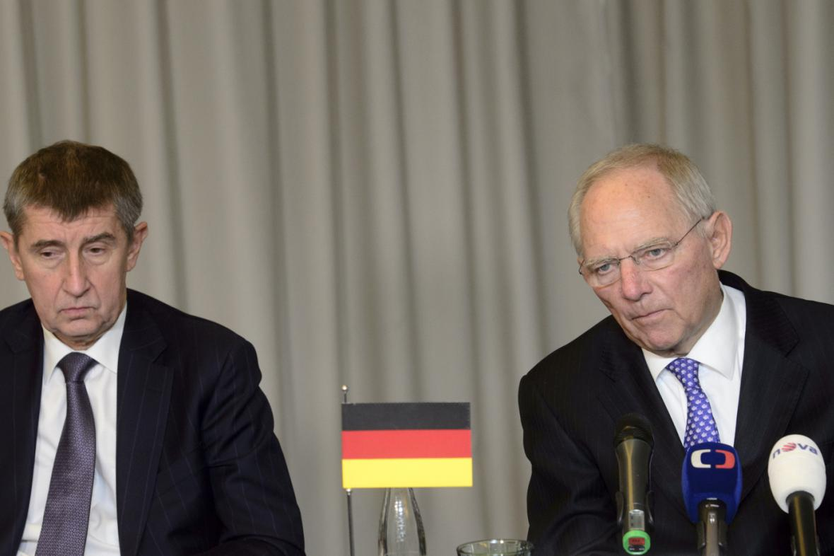Andrej Babiš s Wolfgangem Schäublem