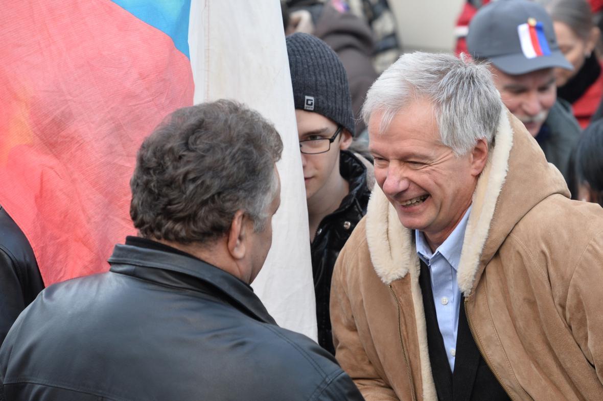 Shromáždění se zúčastnil i Miroslav Sládek