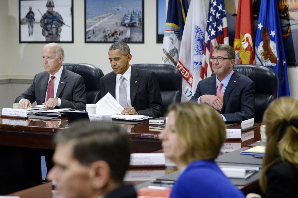 Zasedání administrativy USA v Pentagonu