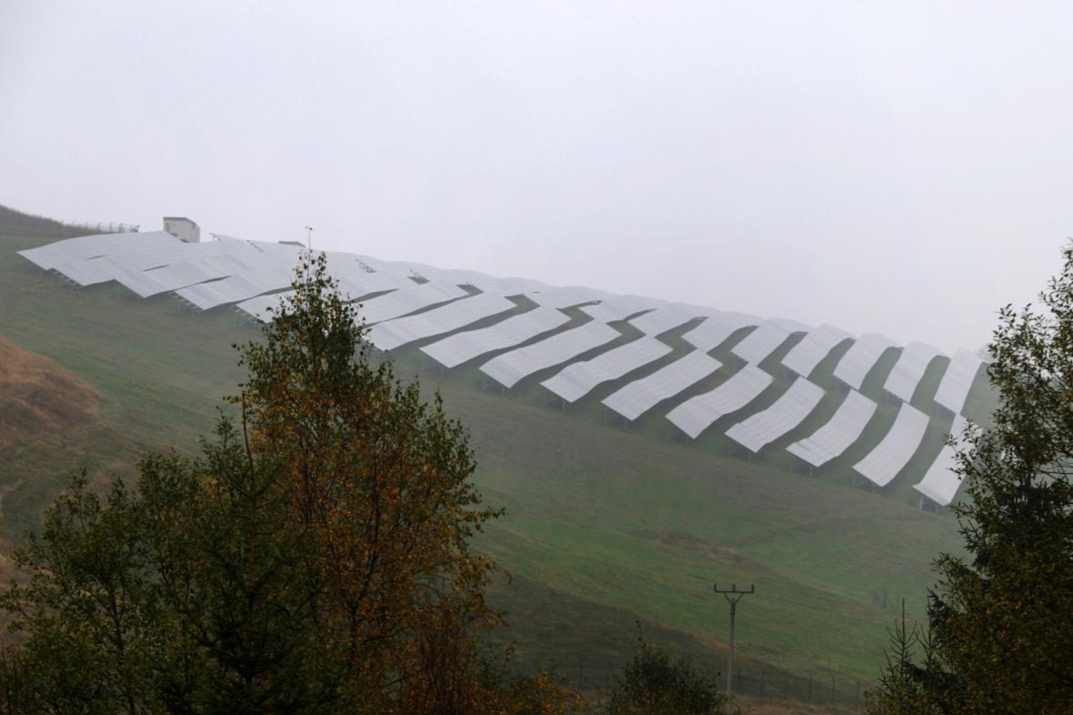 Solární elektrárna v Moldavě na Teplicku