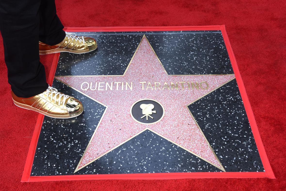 Quentin Tarantino dostal hvězdu na chodníku slávy