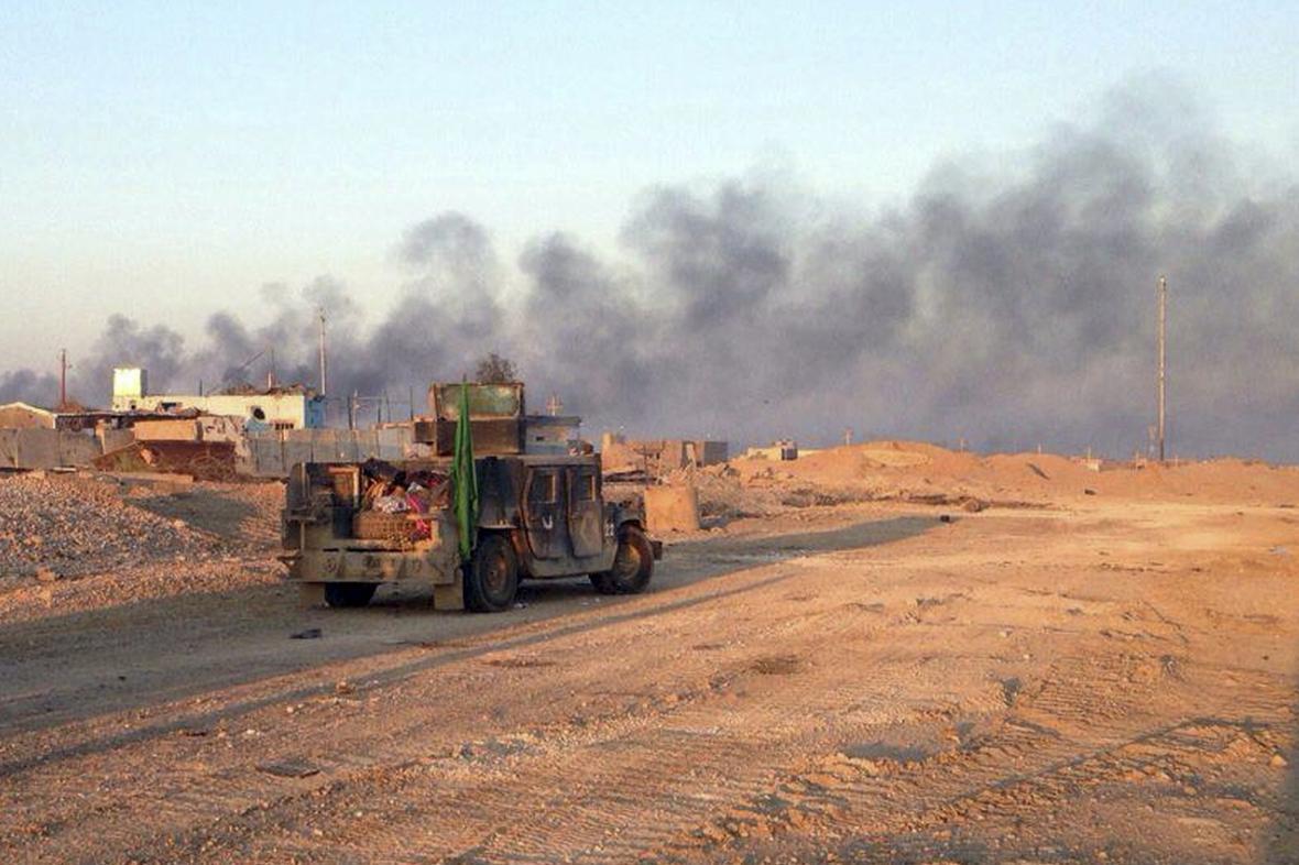Boje poblíž iráckého Ramádí