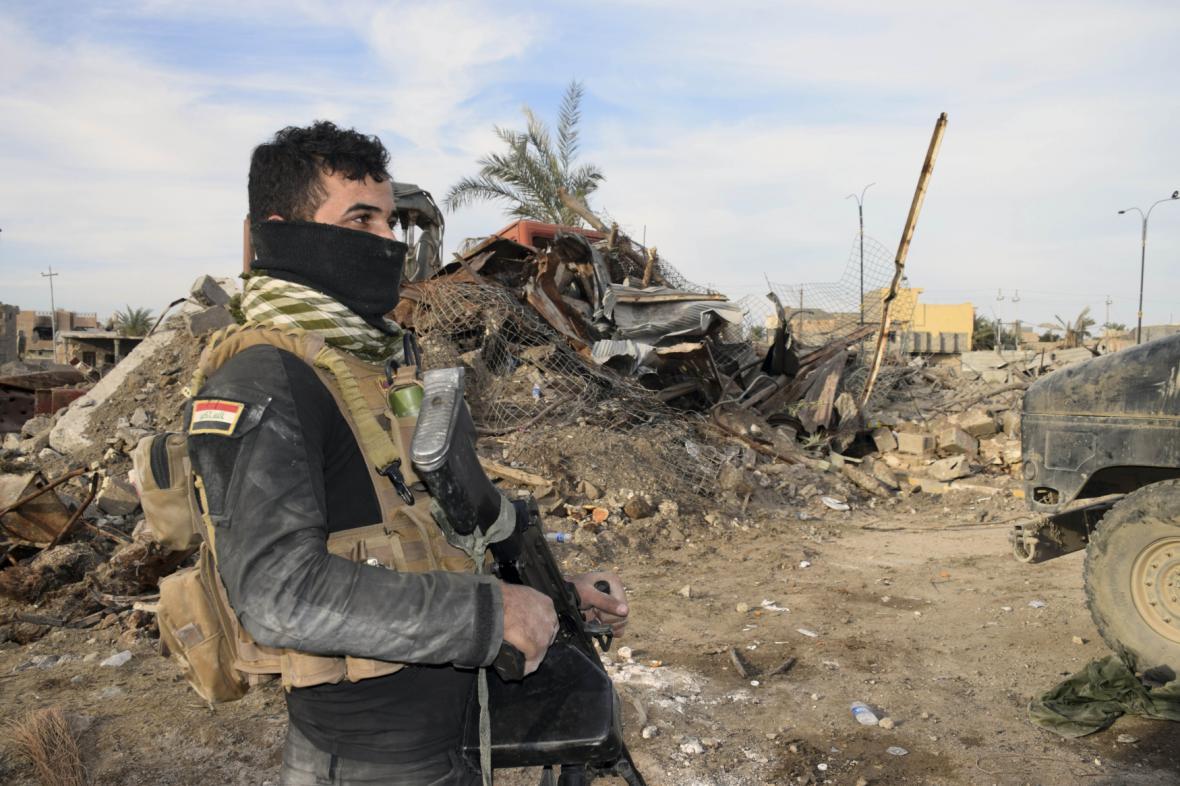 Irácké jednotky u Ramádí