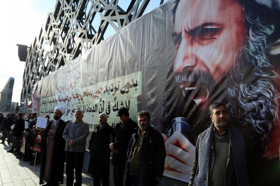 Protesty íránských šíitů kvůli popravě duchovního v Rijádu