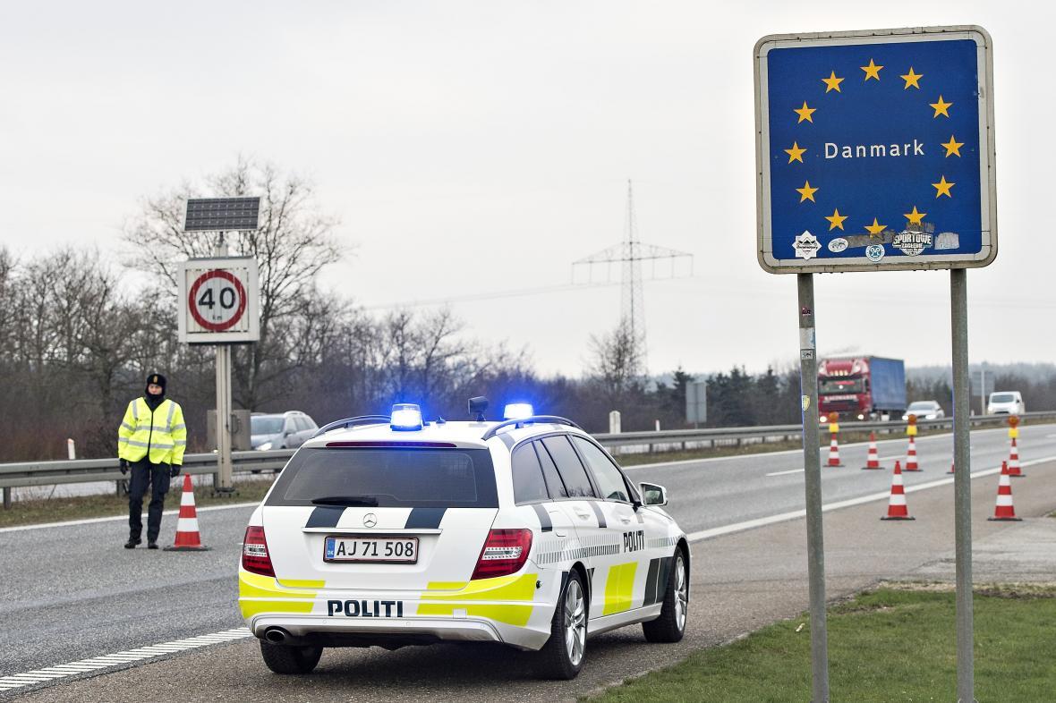 Silniční kontroly na německo-dánské hranici