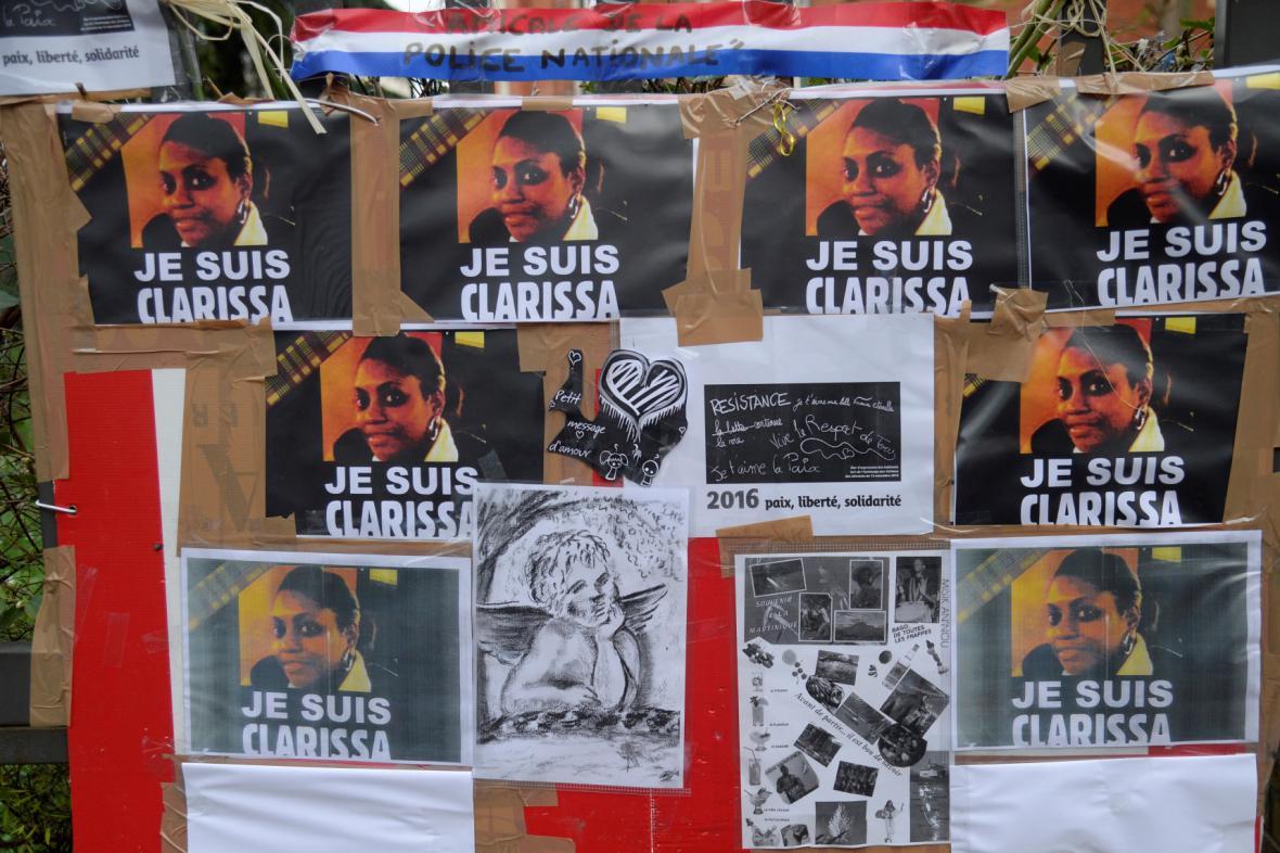 Památka věnovaná policistce Clarisse Jeanové-Philippeové