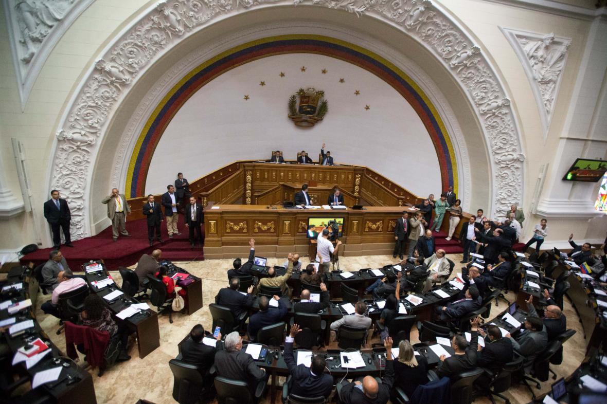 Venezuelský parlament v Caracasu