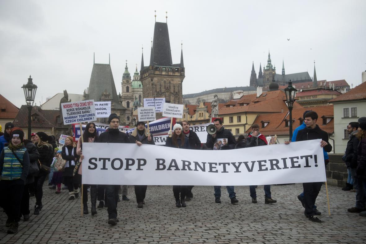 Protest proti norskému úřadu Barnevernet