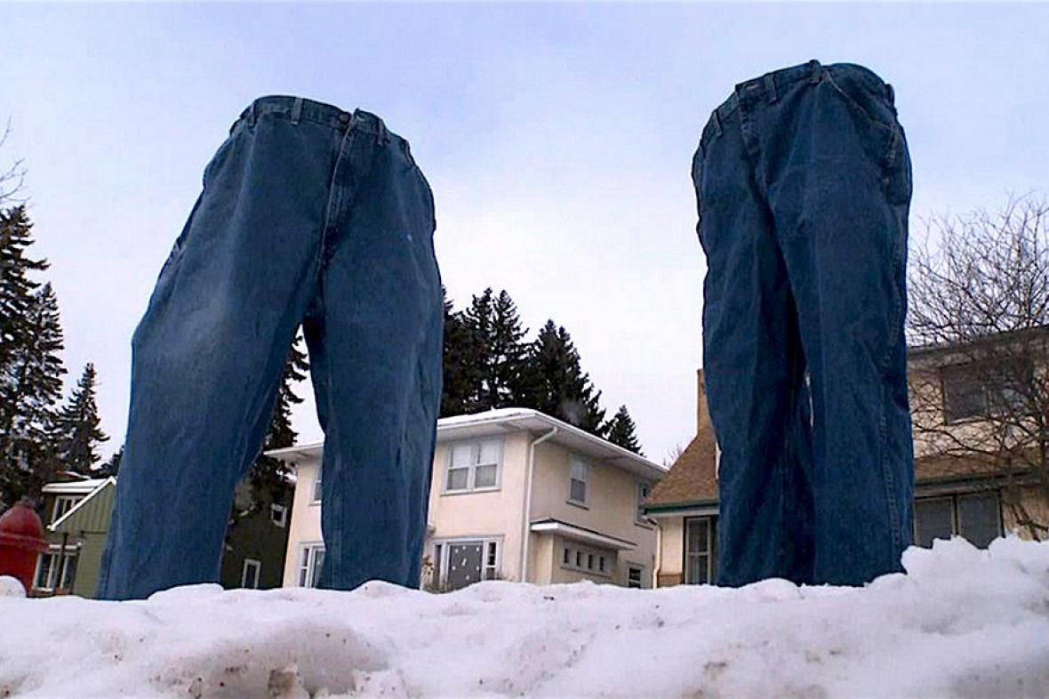 Neobvyklá ozdoba zimních ulic v Minneapolis