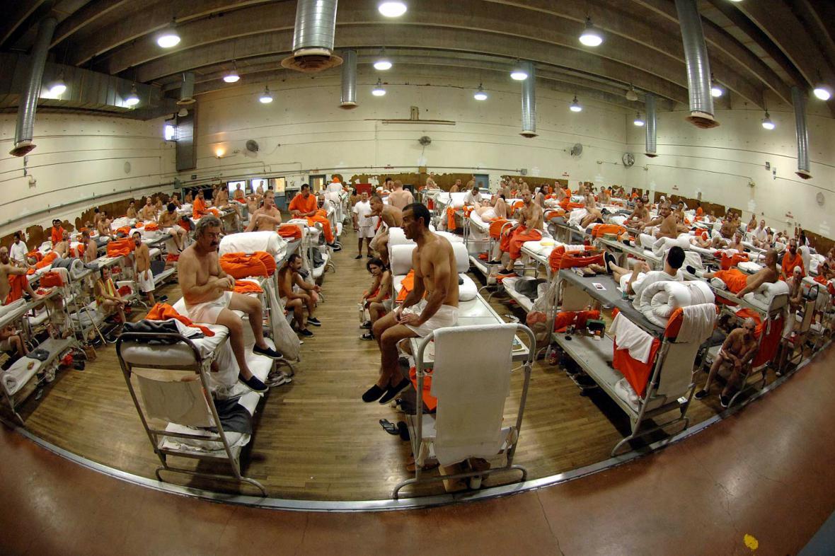 Přeplněné vězení v kalifornském Chinu