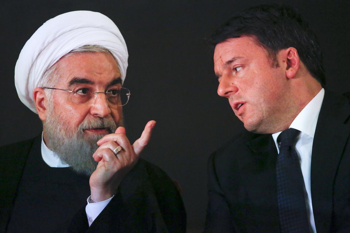 Hasan Rouhání a Matteo Renzi
