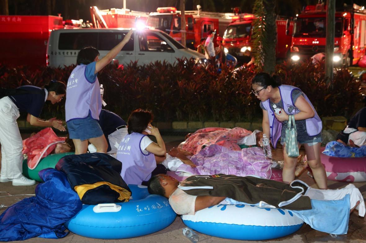 Zranění po explozi v tchajwanském akvaparku