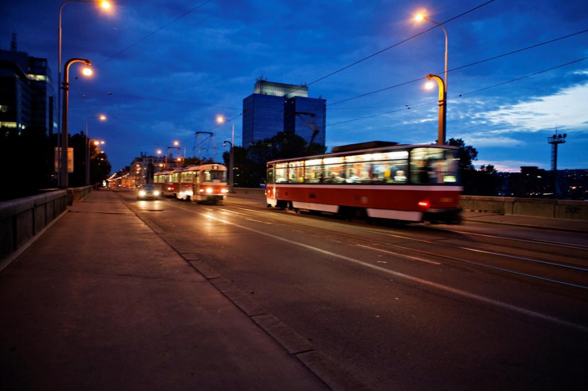 Tramvaje na pražském Libeňském mostu