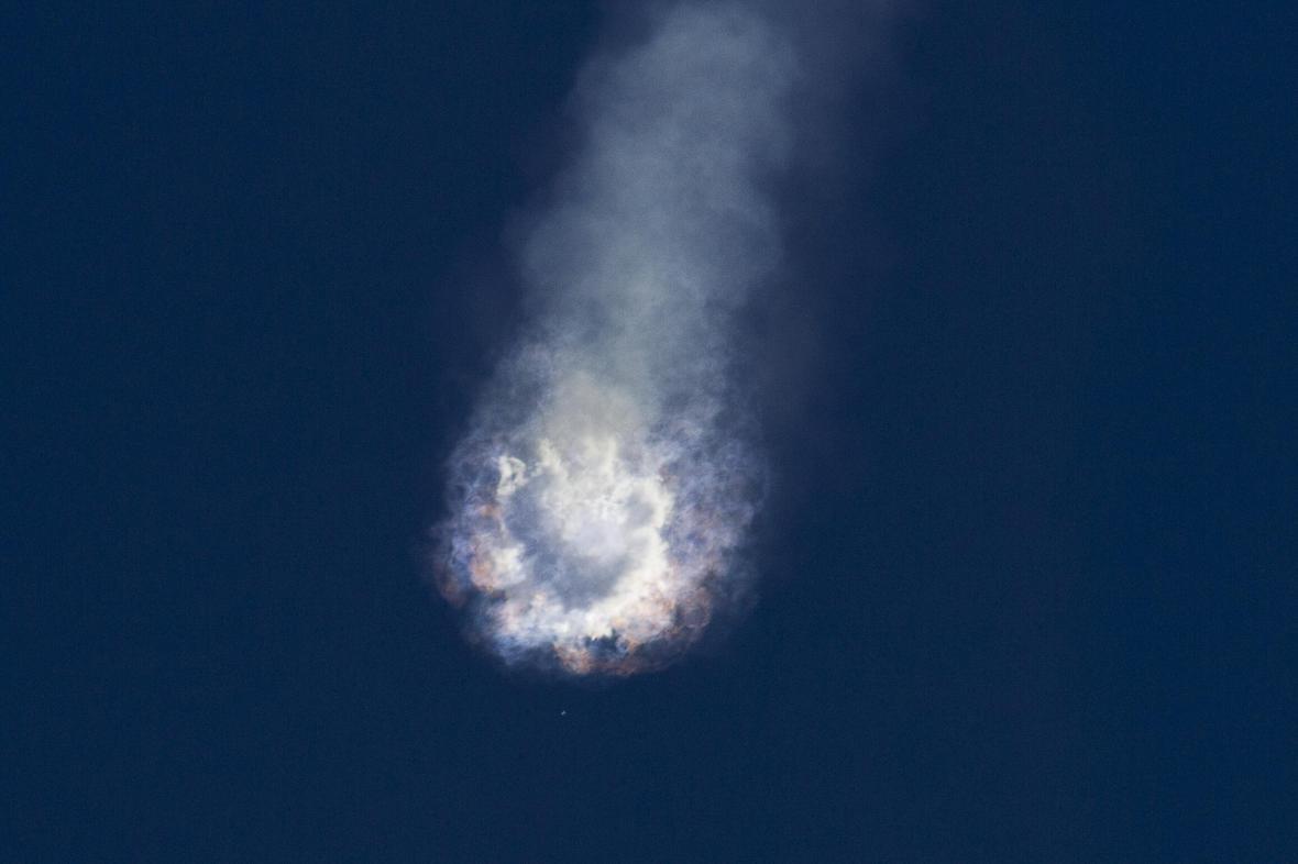 Nepovedený start rakety společnosti SpaceX
