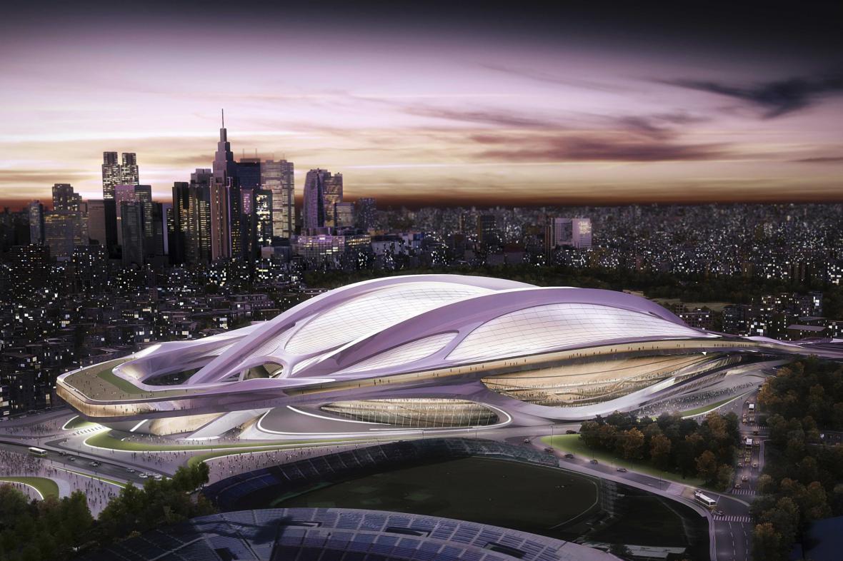 Návrh tokijského stadionu Zahy Hadidové