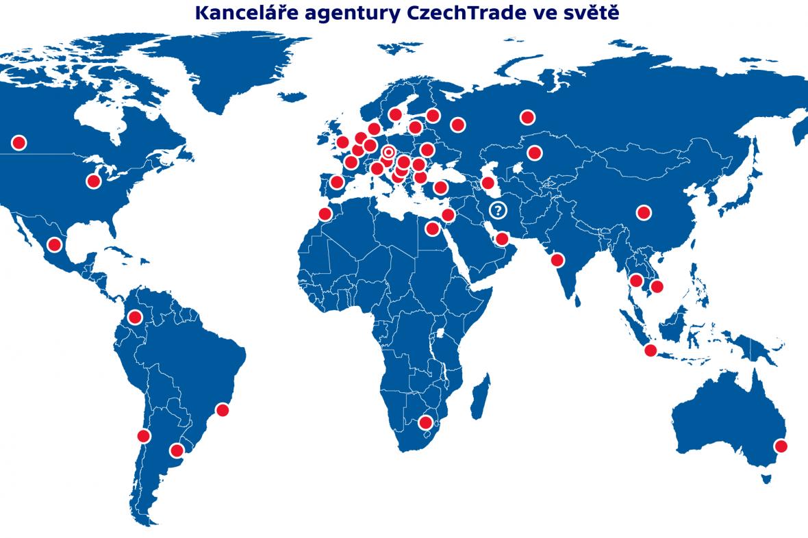 Kanceláře agentury CzechTrade ve světě