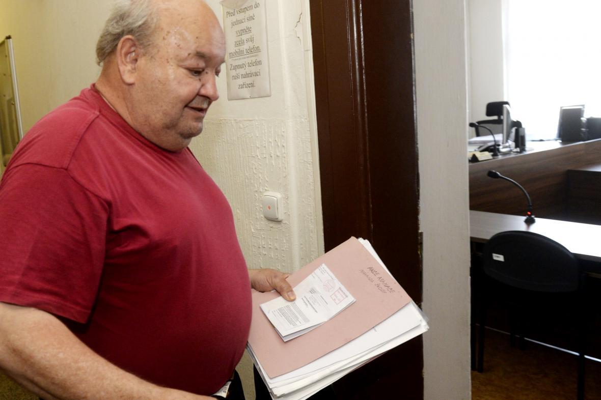 Petr Hanzlík u soudu