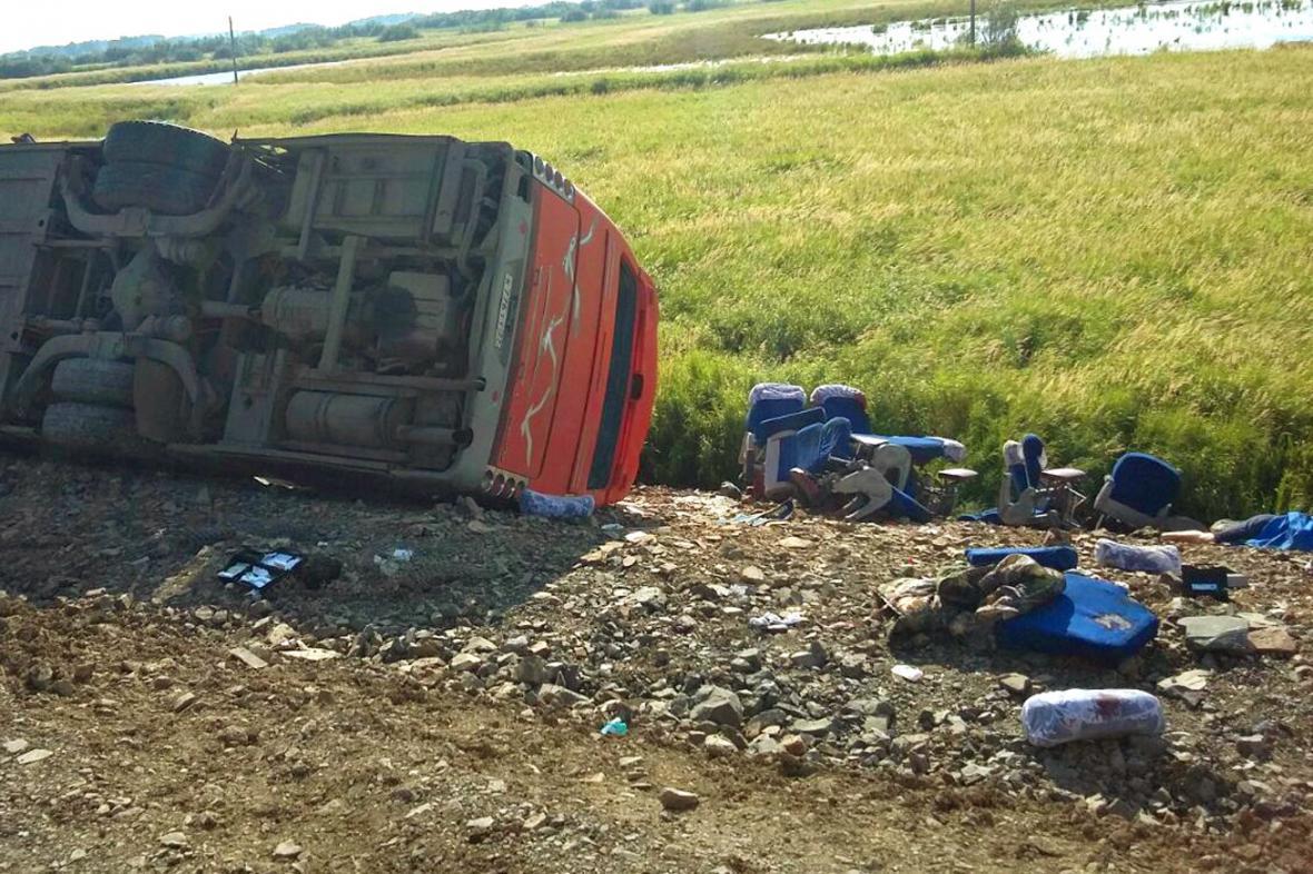 Tragická srážka autobusů v Rusku