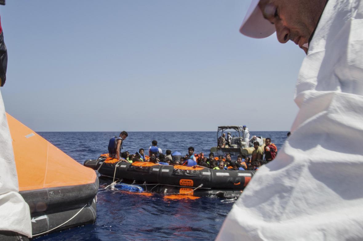 Záchranná akce v libyjských vodách