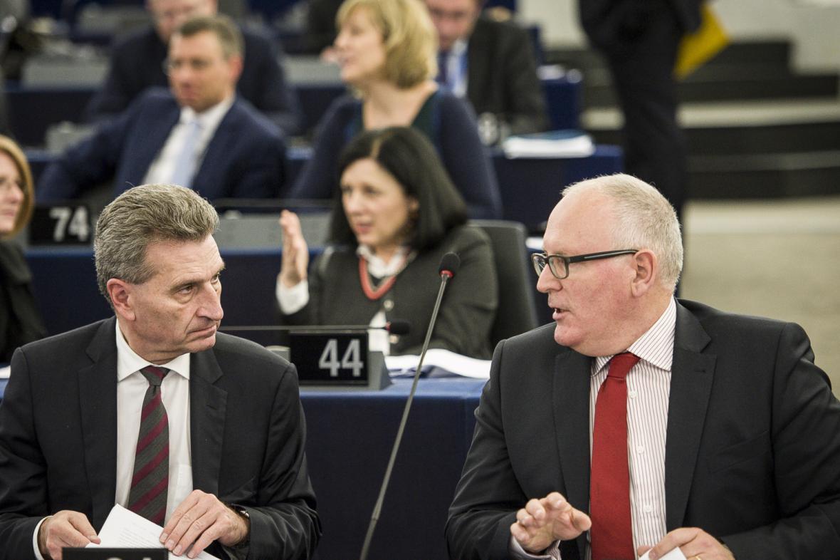 Frans Timmermans (vpravo)