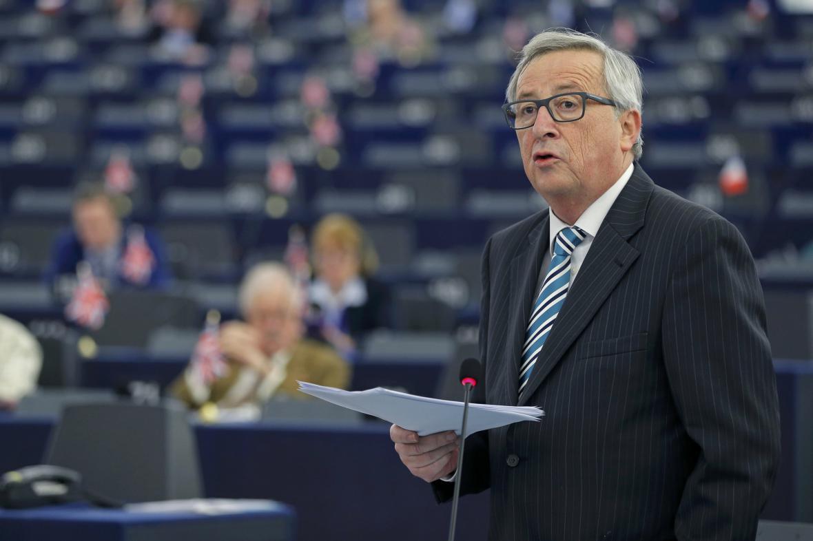 Jean-Claude Juncker v europarlamentu