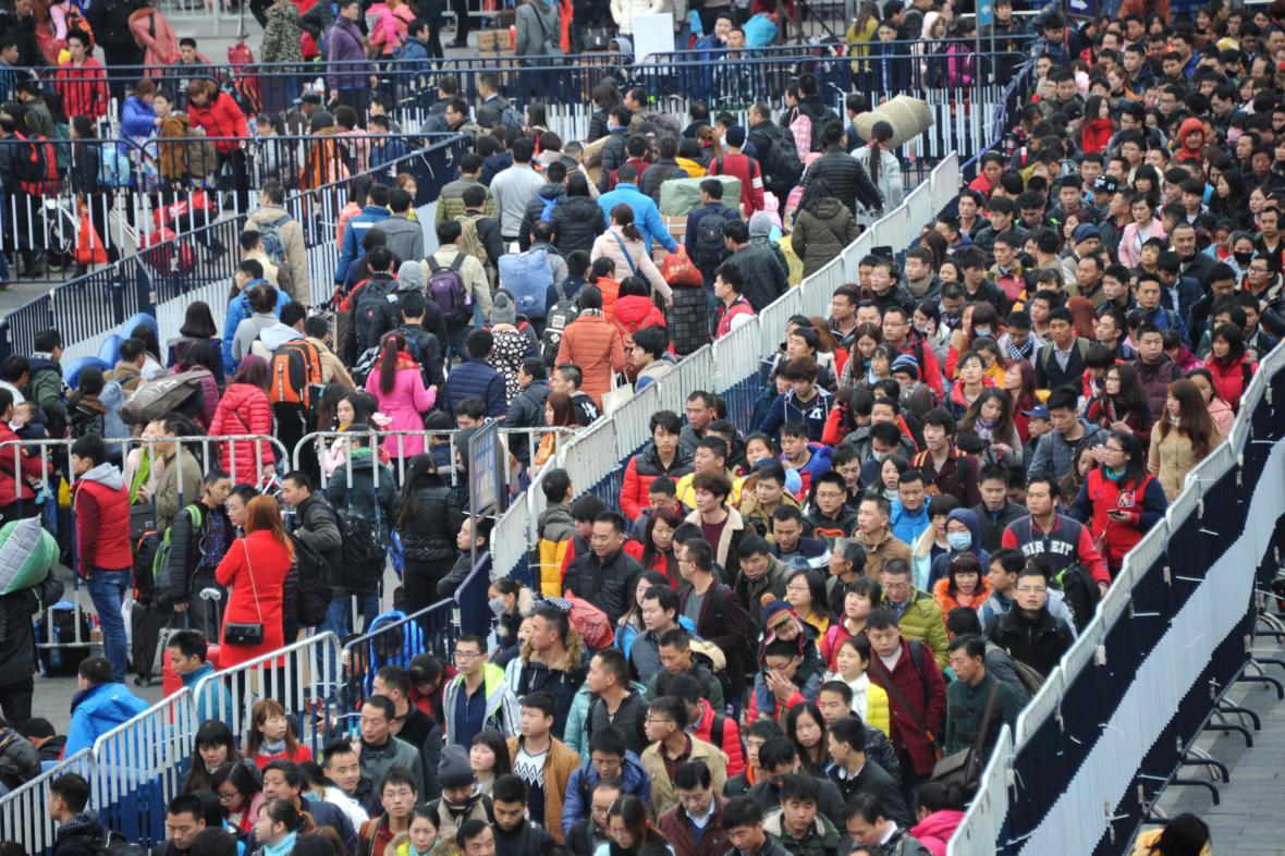 Dopravní kolaps před čínský novým rokem