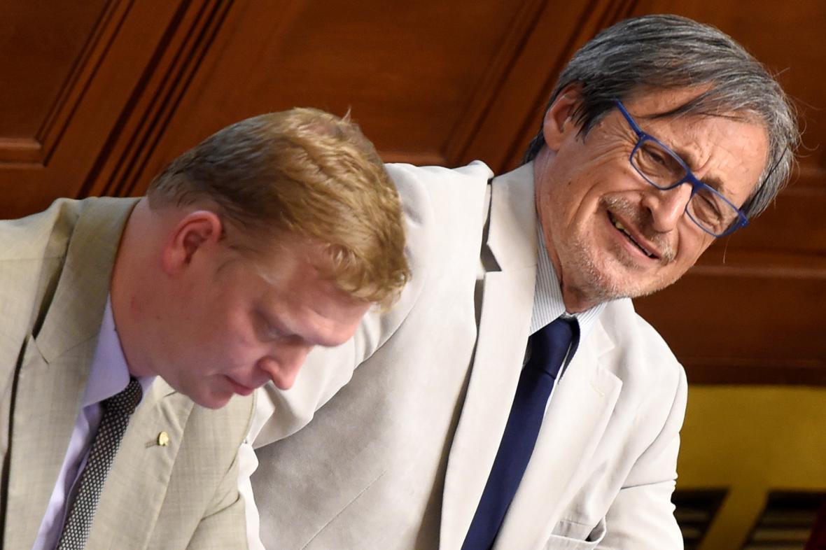 Pavel Bělobrádek a Martin Stropnický