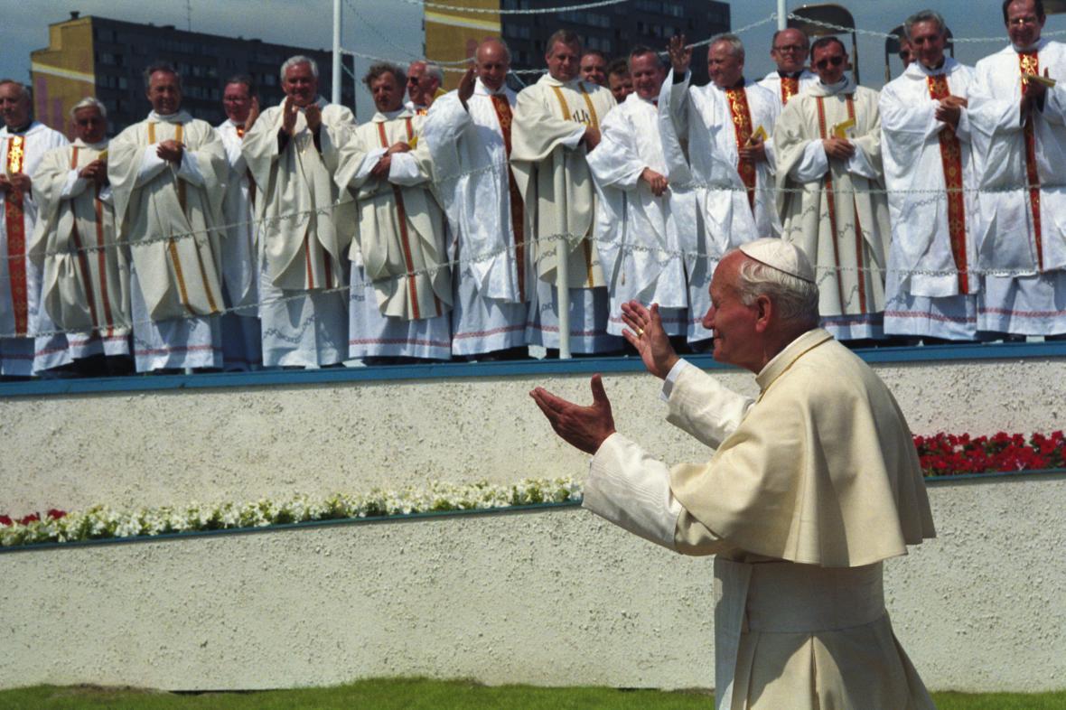 Jan Pavel II. na snímku z roku 1991
