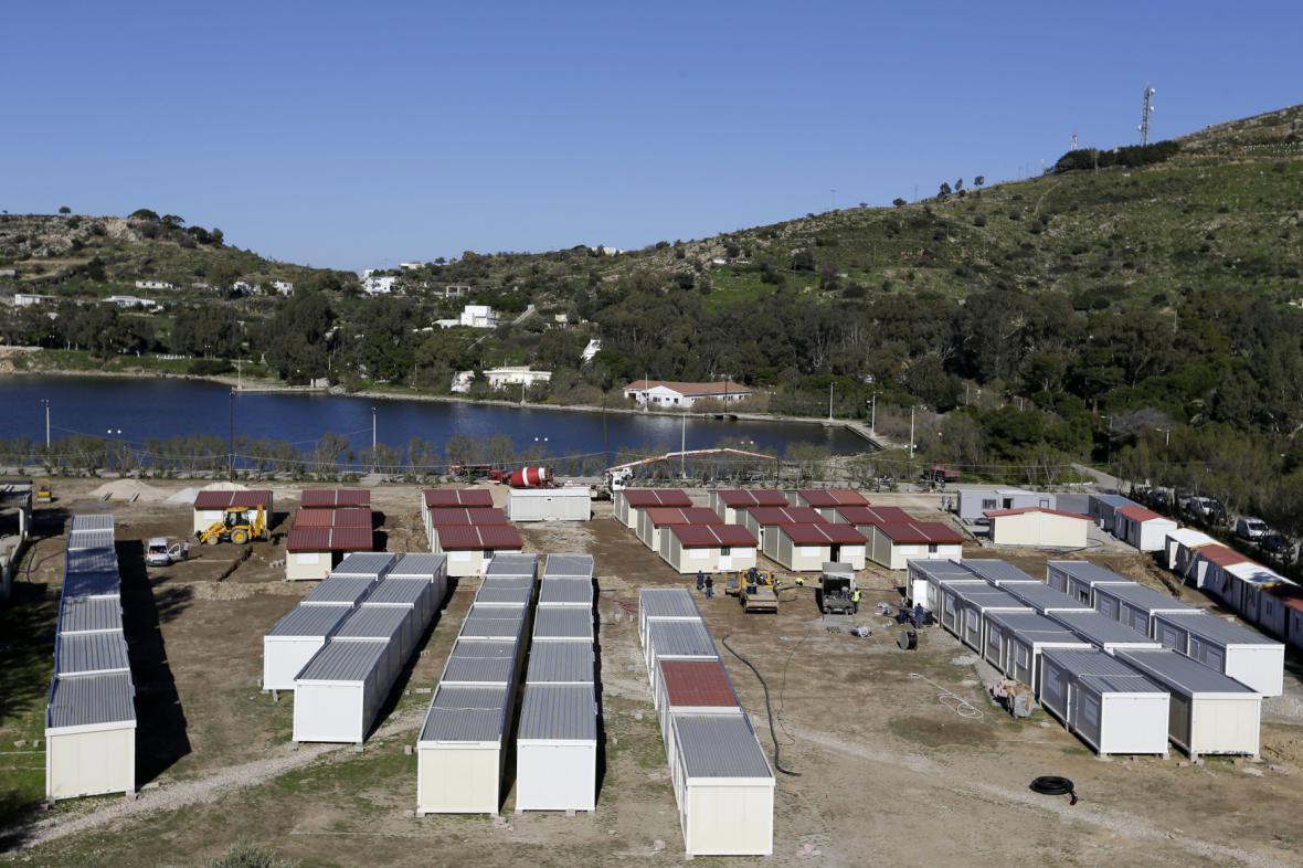 Zázemi pro uprchlíky na ostrově Leros