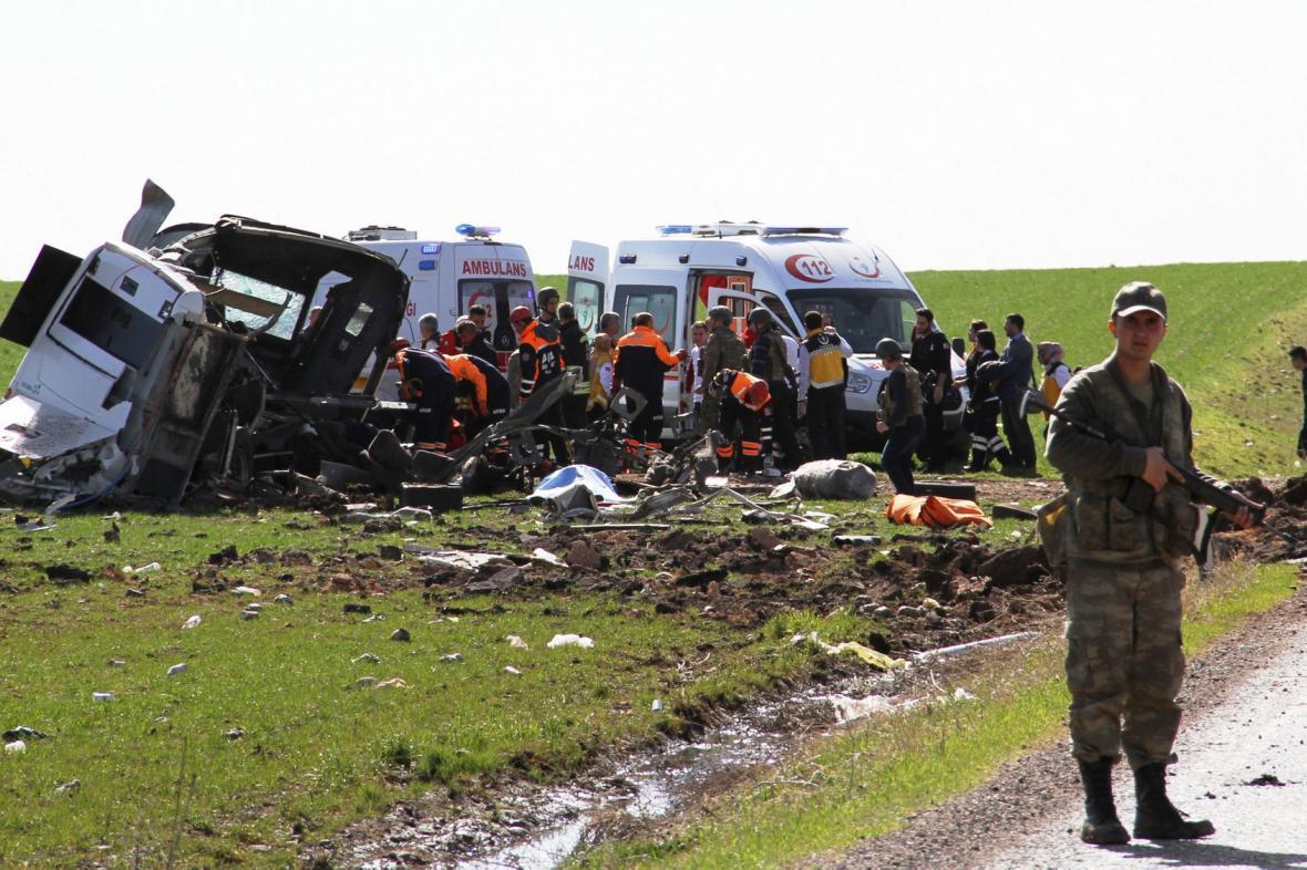 Následky útoku na konvoj turecké armády